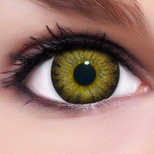 """3f149bcaa0 Circle Lenses – Lentillas de color """"Circle Brown"""" + 10 ml solución +  recipiente para lentes de contacto, de LENZERA en marrón, blandas, sin  dioptrías pack ..."""