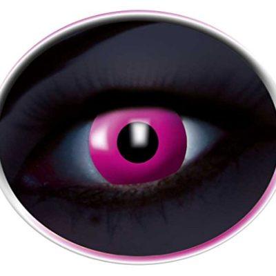 3f4e4596d294b Colores UV Contacto lente Año lente Flash Rosa Leuchten en negro luz 1 par  (2 unidades)