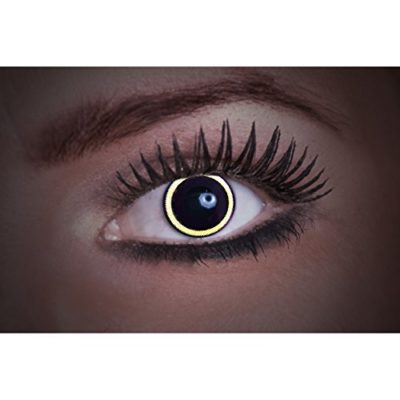 e1001a727a Eyecatcher – Lentes de contacto de colores UV – Flash Eclipse – brillan en  la luz negro – 12 meses – 2 lentillas (1 par) – Ideal para carnaval  Halloween y ...