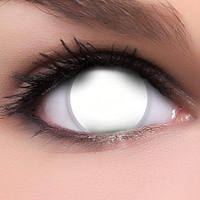 e6f07e5f42 FUNZERA® Lentillas de Colores Blind White + recipiente para lentes de  contacto, sin dioptrías pack de 2 unidades – cómodas y perfectas para  Halloween, ...