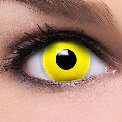 99eda93a533cf FUNZERA® Lentillas de Colores Yellow Eyes + recipiente para lentes de  contacto