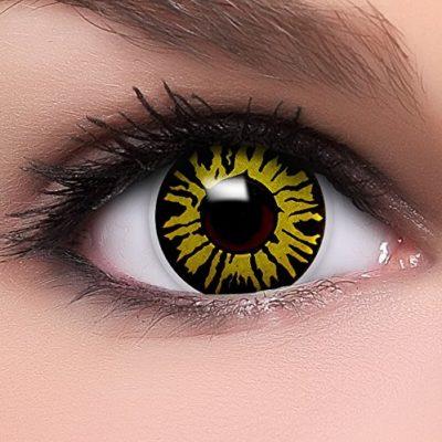83ea84fdabefa FUNZERA® Lentillas de Colores Yellow Jungle + recipiente para lentes de  contacto