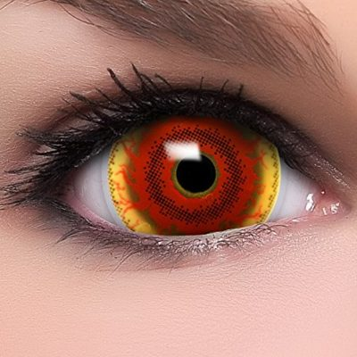8ca4a46e7f FUNZERA® Mini Sclera Lentillas de Colores Red Monster + recipiente para  lentes de contacto, sin dioptrías pack de 2 unidades – cómodas y perfectas  para ...
