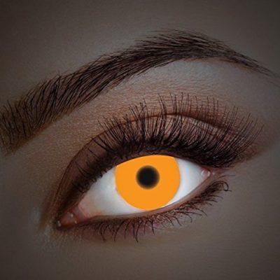 56e621d07f642 UV Lentes de contacto coloreadas Orange Fire de Aricona – que cubren las lentes  años para los ojos oscuros y claros