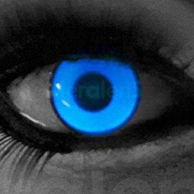 2ca66a6a62d9a funnylens 1 par de colores Crazy FUN UV White 3 meses kontaktlinsen.  Perfección a Halloween