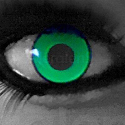 863b73a9445cf funnylens 1 par de colores Crazy FUN  UV Yellow  3 meses kontaktlinsen.  Perfección a Halloween